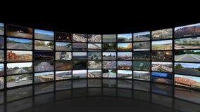Windende Videowand 360 summen dann herein laut (Schwarzes) stock video footage