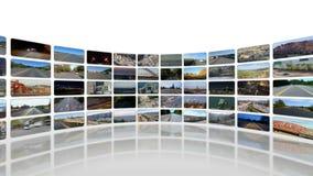 Windende Videowand 360 summen dann herein laut (Weiß) stock video footage