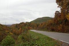 Windende weg in Appalachia royalty-vrije stock foto's