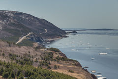 Windende Weg in Cabot Trail Horizontal Stock Afbeelding