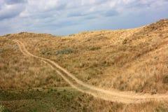 Windende weg in de prairie Stock Foto's