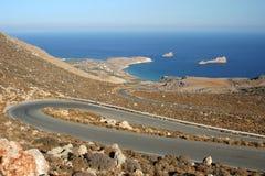 Windende weg in Griekenland Royalty-vrije Stock Afbeeldingen