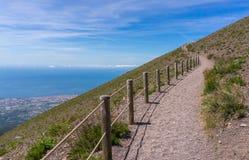 Windende weg op de Vesuvius Royalty-vrije Stock Foto