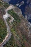 Windende weg op het zuiden van Armenië Stock Afbeeldingen