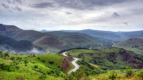 Windende Weg in Zuid-Afrika Royalty-vrije Stock Foto's