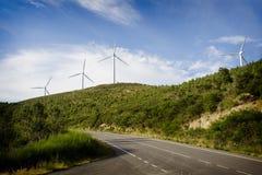 Windenergie Royalty-vrije Stock Afbeeldingen