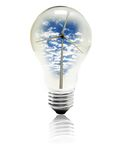 Windenergie Stockfotografie