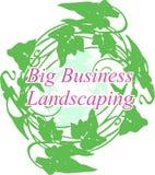 WINDenergie-Kreiskranzvektor des Blattlogogrüngeschäfts Landschaftsgestaltungs ai ENV stockbild