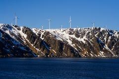 Windenergie in Noorwegen Stock Foto