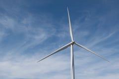 Windenergie op de berg Stock Foto