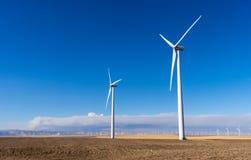 Windenergie - Schone Energie Royalty-vrije Stock Fotografie