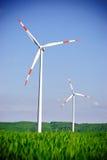 Windenergie-Turbine-Kraftwerk stockfoto