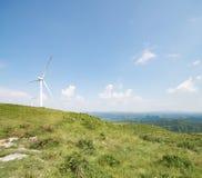 Windenergie und -berge Stockfotografie