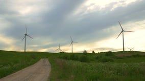 Windenergie, Windenergie, Windkraftanlage stock footage