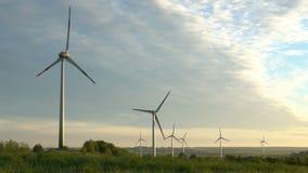 Windenergie, windenergie, windturbine stock footage