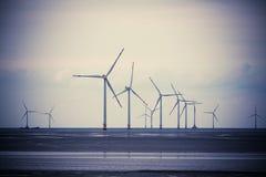 Windenergiegeneratie Royalty-vrije Stock Foto's