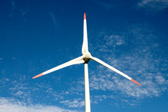 Windenergieinstallatie Royalty-vrije Stock Foto