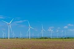 Windenergielandbouwbedrijf Royalty-vrije Stock Foto's