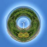 Windenergieplaneet Royalty-vrije Stock Afbeeldingen