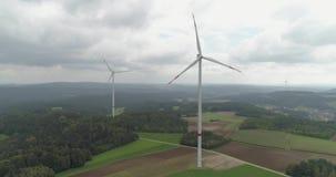 Windenergietechnologie stock footage