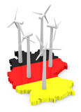 Windenergy in germany Royalty Free Stock Photos
