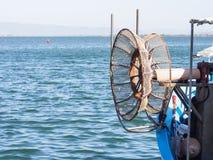 Winder fishing net Royalty Free Stock Photo
