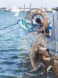 Winder fishing net Stock Image