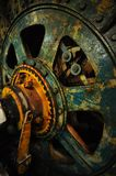Winder. An old and well-used heavy duty gold mine winder in a decommissioned mine Stock Images