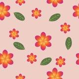 Winderig naadloos patroon met frangipani Stock Afbeelding