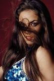 Winderig portret van buikdanser Stock Fotografie
