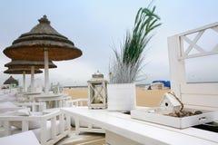 Winderig strand Royalty-vrije Stock Afbeeldingen