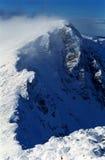 Winderige berg royalty-vrije stock afbeelding