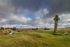 Winderige post op het nationale park van Dartmoor Royalty-vrije Stock Afbeelding