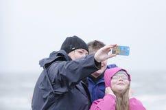 Winderige Selfie Stock Fotografie