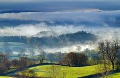 Windermere dans le brouillard Images libres de droits