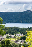 Windermere jezioro w Angielskim Jeziornym Gromadzkim parku narodowym, Cumbria Obrazy Stock