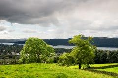 Windermere jezioro w Angielskim Jeziornym Gromadzkim parku narodowym, Cumbria Zdjęcia Royalty Free