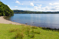 Windermere Lake District England uk on a beautiful summer day with blue sky Stock Images