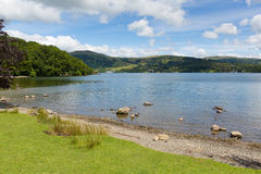 Windermere Lake District England uk on a beautiful summer day with blue sky Royalty Free Stock Photo