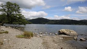 Windermere Lake District England uk on a beautiful summer day with blue sky stock video footage