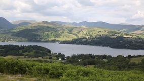 Windermere Lake District National Park England uk PAN. Windermere Lake District National Park England uk popular tourist attraction stock video footage
