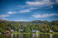 Windermere, Lake District United Kingdom. The picture was taken on the sunny day in England Royalty Free Stock Photography