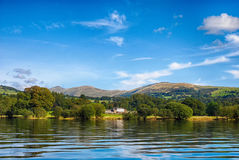 Windermere, Lake District United Kingdom. The picture was taken on the sunny day in England royalty free stock image