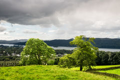 Windermere Lake in  English Lake District National Park, Cumbria Royalty Free Stock Photos