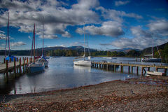 Windermere Lake pier 3 Stock Photo