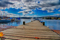 Windermere Lake pier 1 stock photography