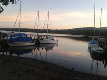Windermere Lake at sunset Royalty Free Stock Photos