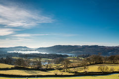 Windermere Lake in winter Stock Images