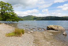 Windermere The Lakes National Park England uk on a beautiful summer day with blue sky Royalty Free Stock Photography