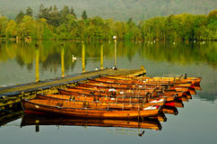 Windermere rowing boats. Windermere Lake view of the rowing boats Royalty Free Stock Photos